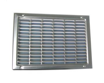 Abluftgitter Stahl, verzinkt oder RAL 7037