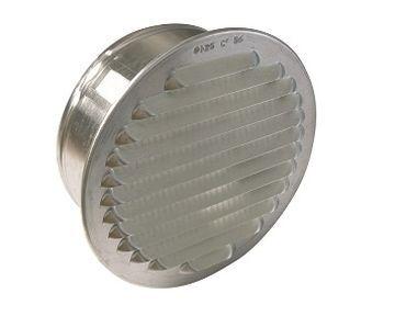 Lüftungsgitter Aluminium, rund mit Stutzen,