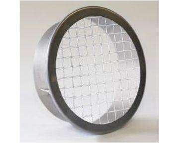 Maschengitter Stahl galvanisiert, rund mit Stutzen