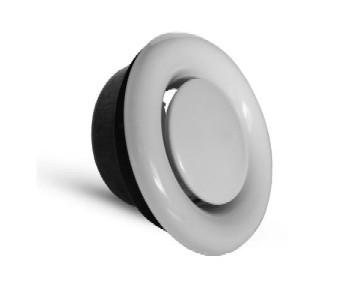 Abluft-Tellerventile Metall RAL 9016,