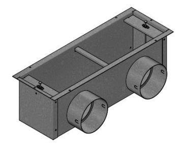 Fussbodenauslass Doppelanschluss DN 90