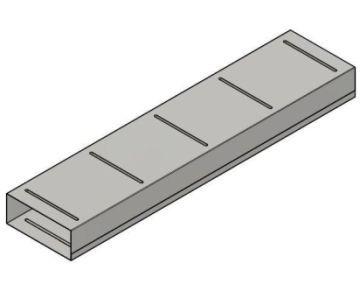 Flachkanal 90 x 226 mm