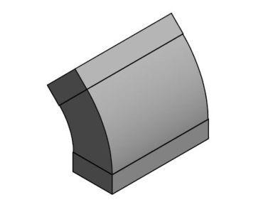 Bogen zu Flachkanalsystem 90x226mm